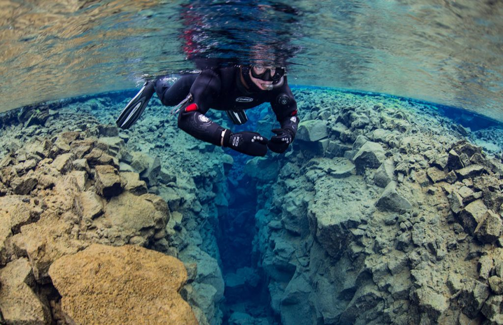 Diving in Silfra with Arctic Adventures