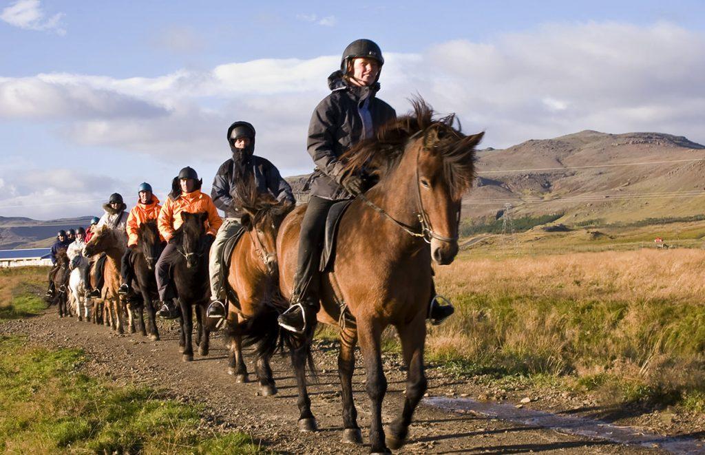 Eldhestar horse riding tour