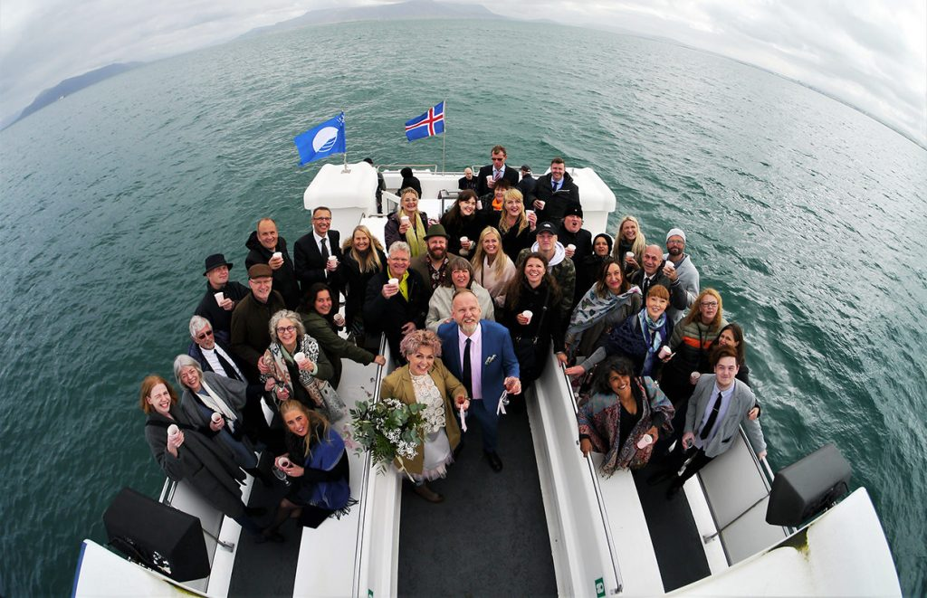 Wedding on board our boats, sailing from Reykjavik